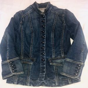 Ann Taylor button up jean jacket size 0
